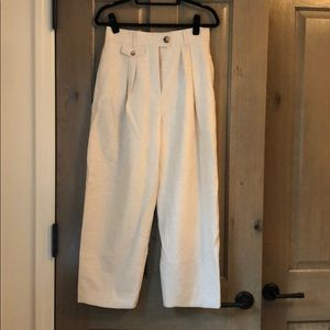 Never worn wide leg cream trousers!